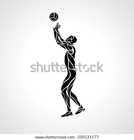 volleyball setter clipart volleyball setter silhouette vector illustration stock clipart setter volleyball 1 1