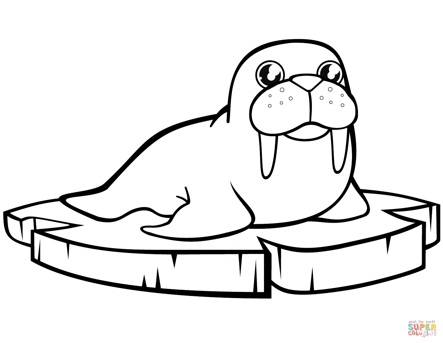 walrus coloring pages free printable walrus coloring pages for kids coloring pages walrus