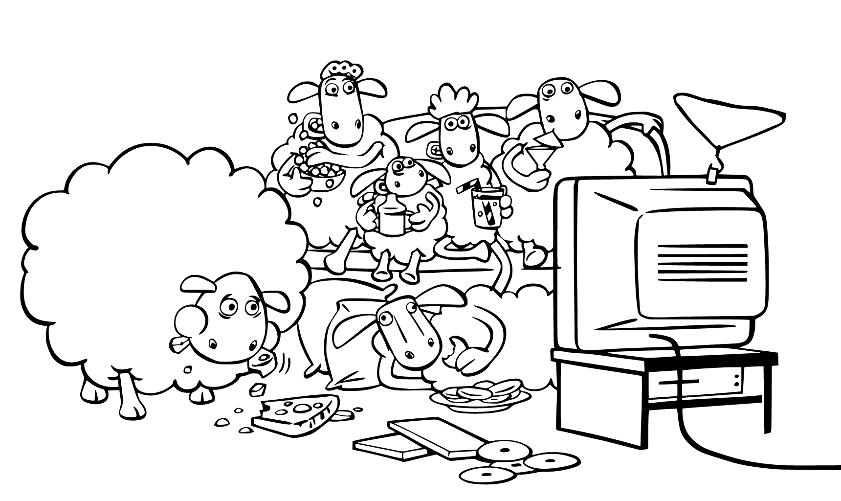 watching tv coloring pages pages coloring watching tv pages coloring watching tv