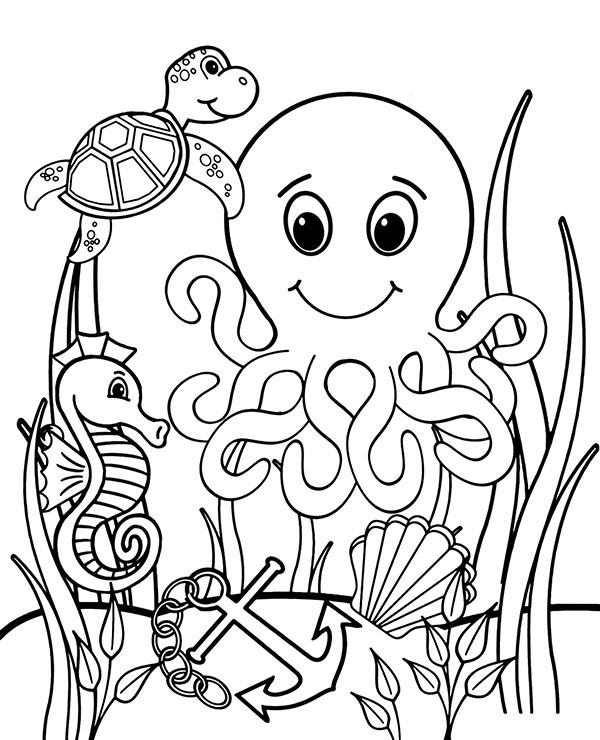 water animal coloring pages download and print coloring pages of sea animals preschool coloring water pages animal