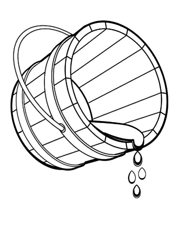 water coloring images taking water with bucket coloring pages taking water with coloring water images