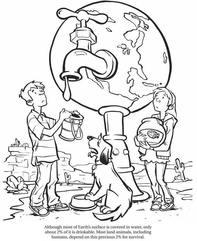 water day coloring sheets amazing carbon footprint facts dover publications earth coloring water day sheets