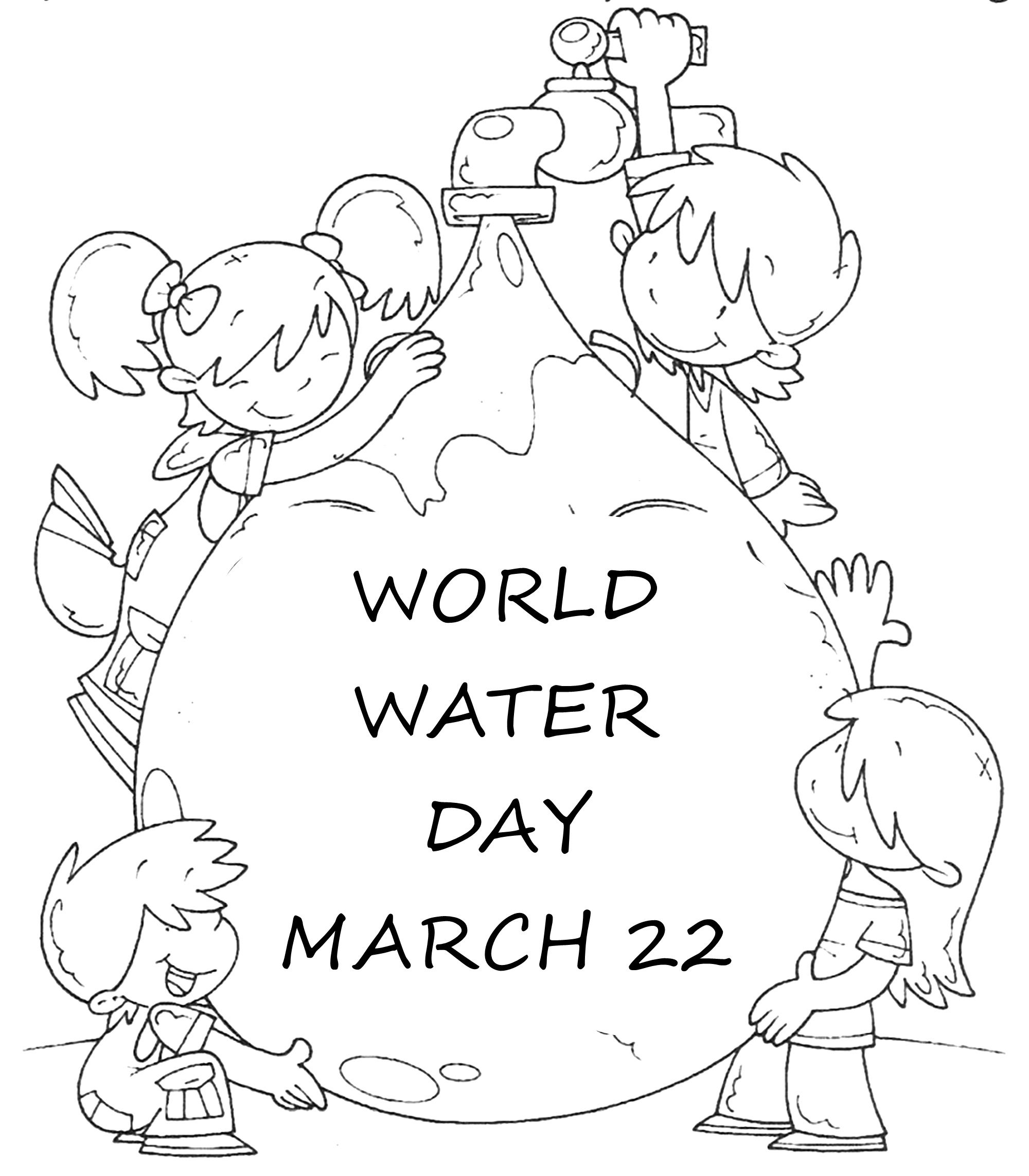 water day coloring sheets world water day 22 march coloring page water drop sheets day water coloring