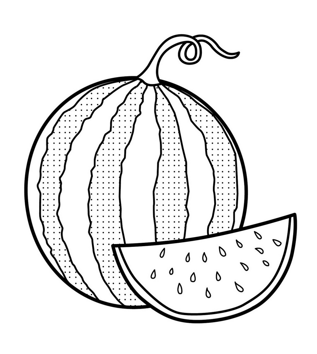 watermelon coloring pages fresh image of watermelon coloring page coloring pages watermelon