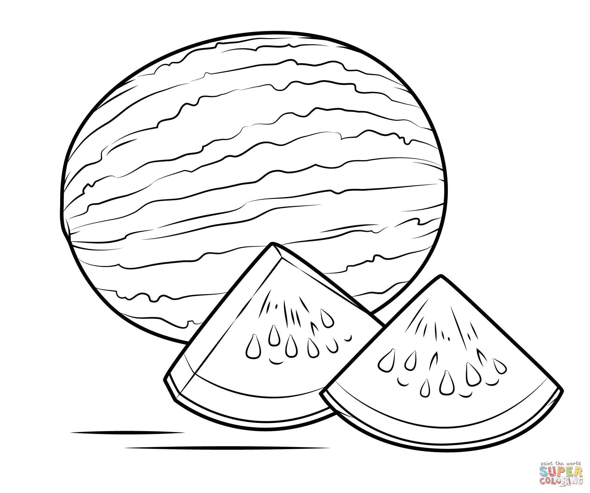 watermelon coloring pages watermelon coloring page free printable coloring pages pages watermelon coloring