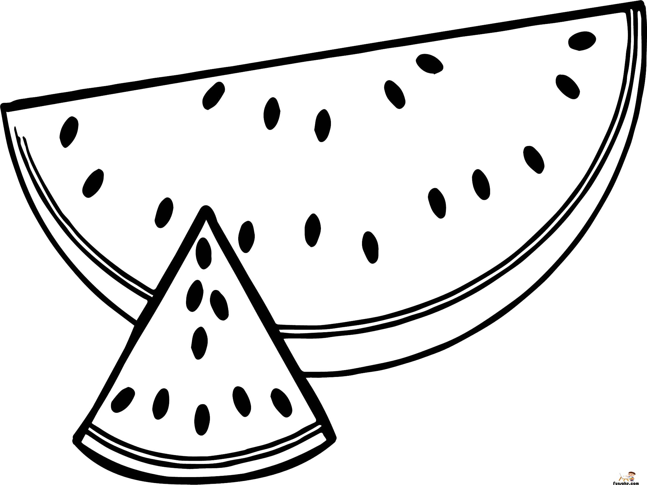 watermelon for coloring watermelon coloring pages preschoolers funsoke for coloring watermelon