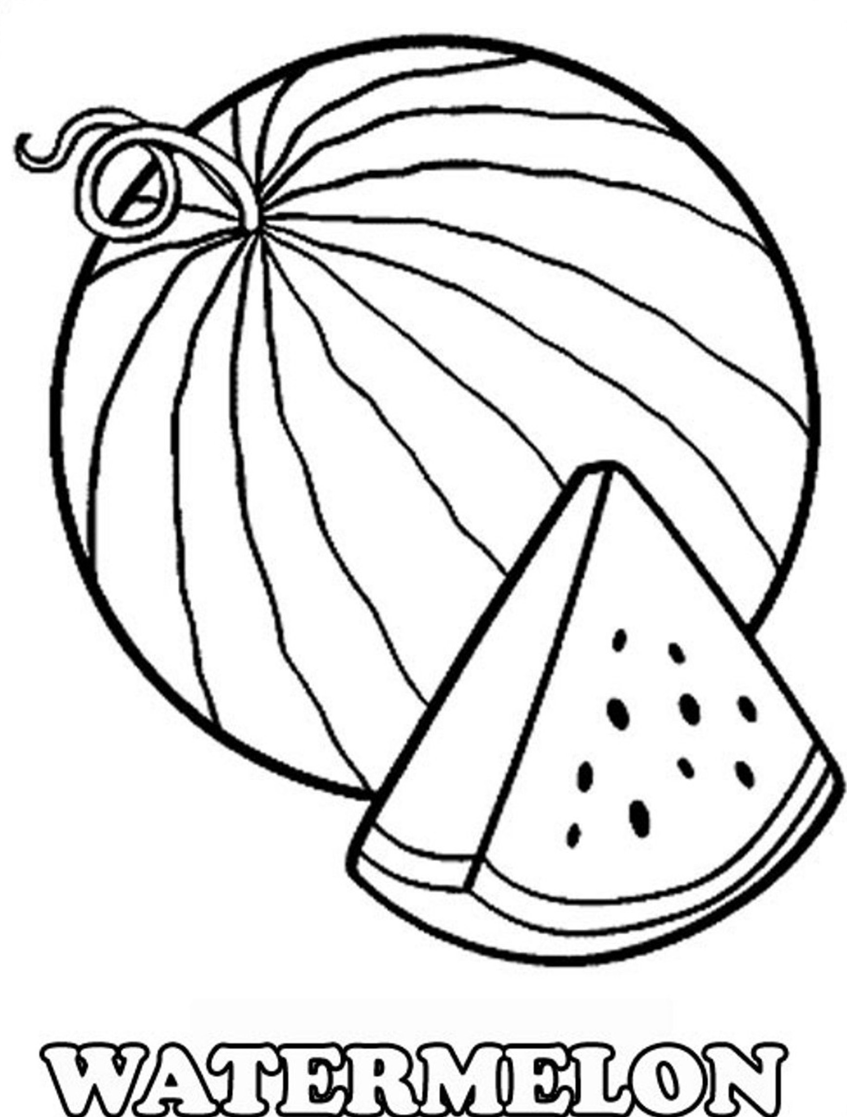watermelon for coloring watermelon slice drawing at getdrawings free download coloring watermelon for