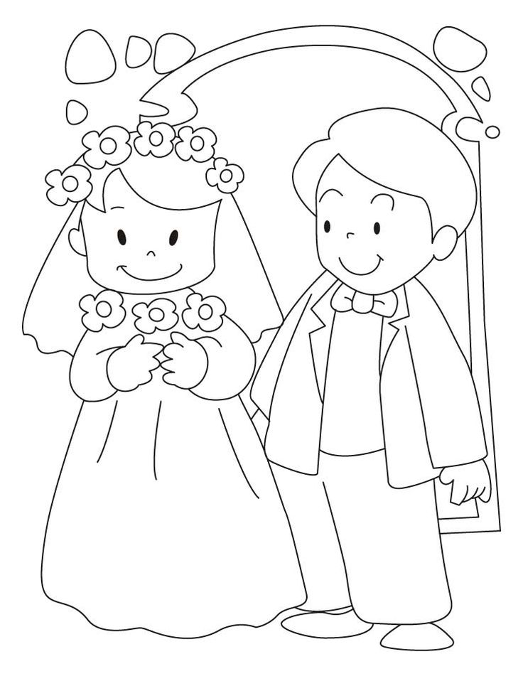wedding coloring pages marriage ceremony coloring web page pageslovesmagcom coloring wedding pages