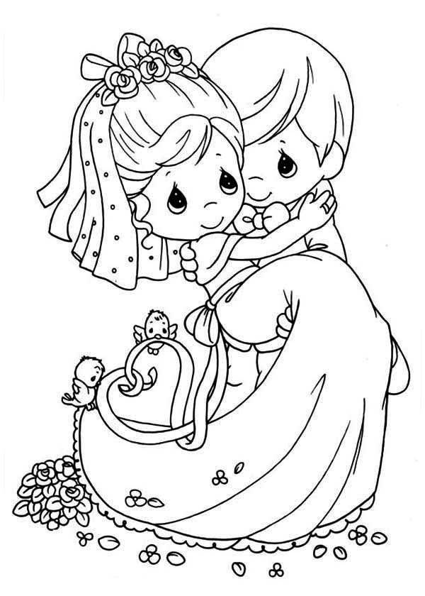 wedding coloring pages wedding couple coloring pages at getdrawings free download coloring wedding pages