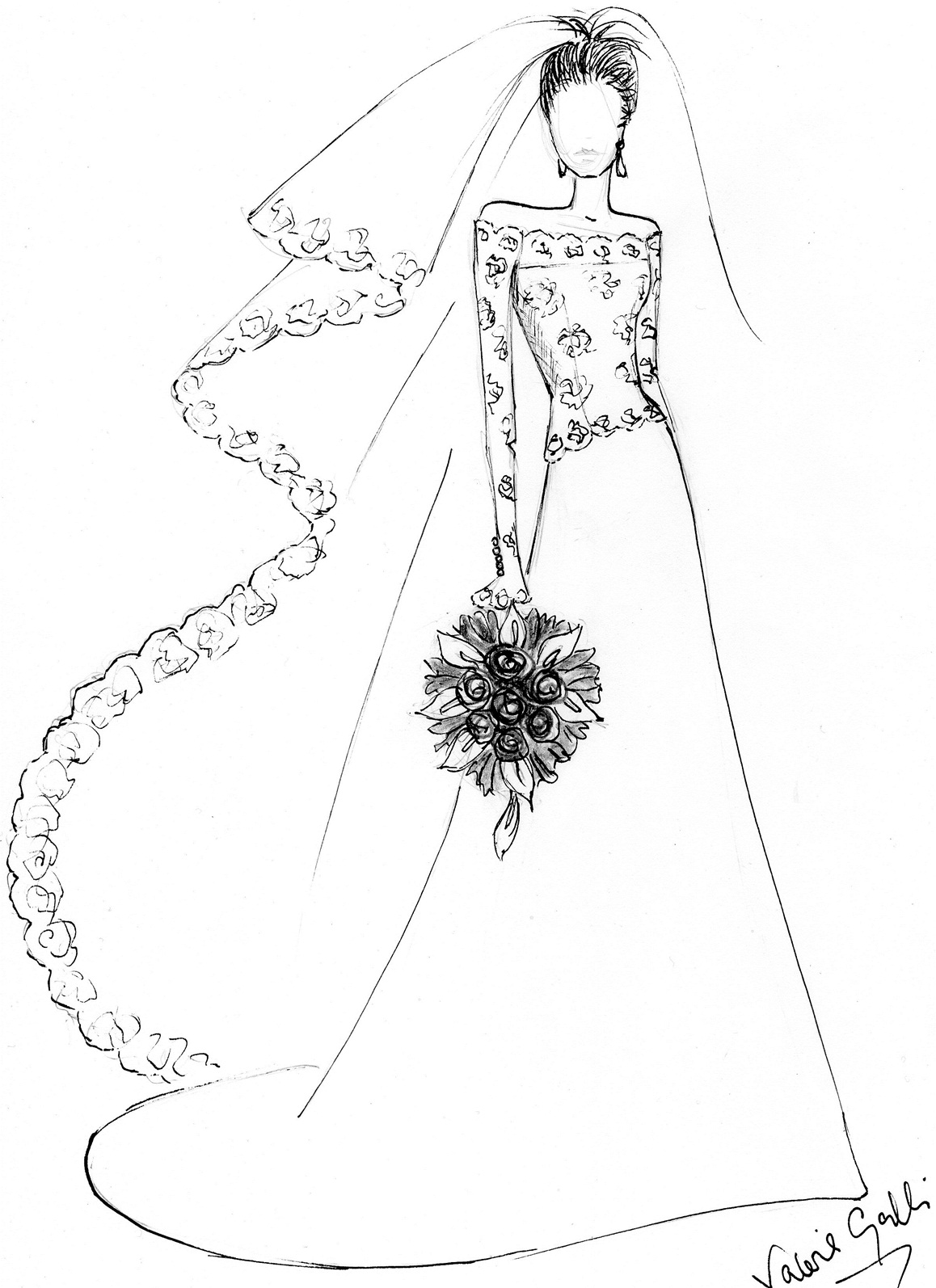 wedding dresses coloring pages girl in dress drawing at getdrawings free download coloring pages wedding dresses