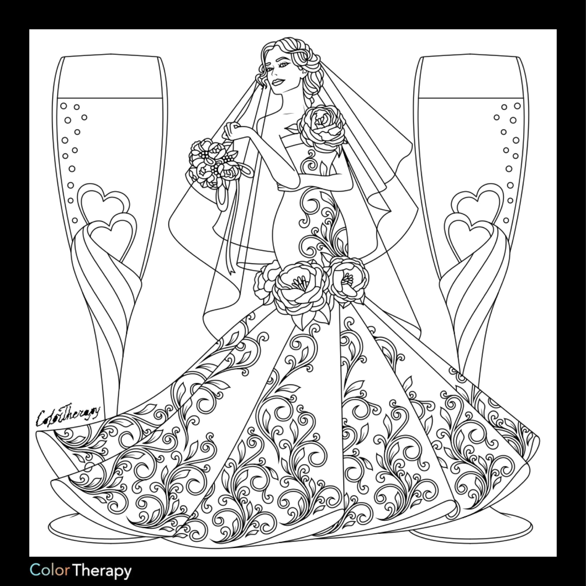 wedding dresses coloring pages parchment drawing at getdrawings free download wedding coloring dresses pages