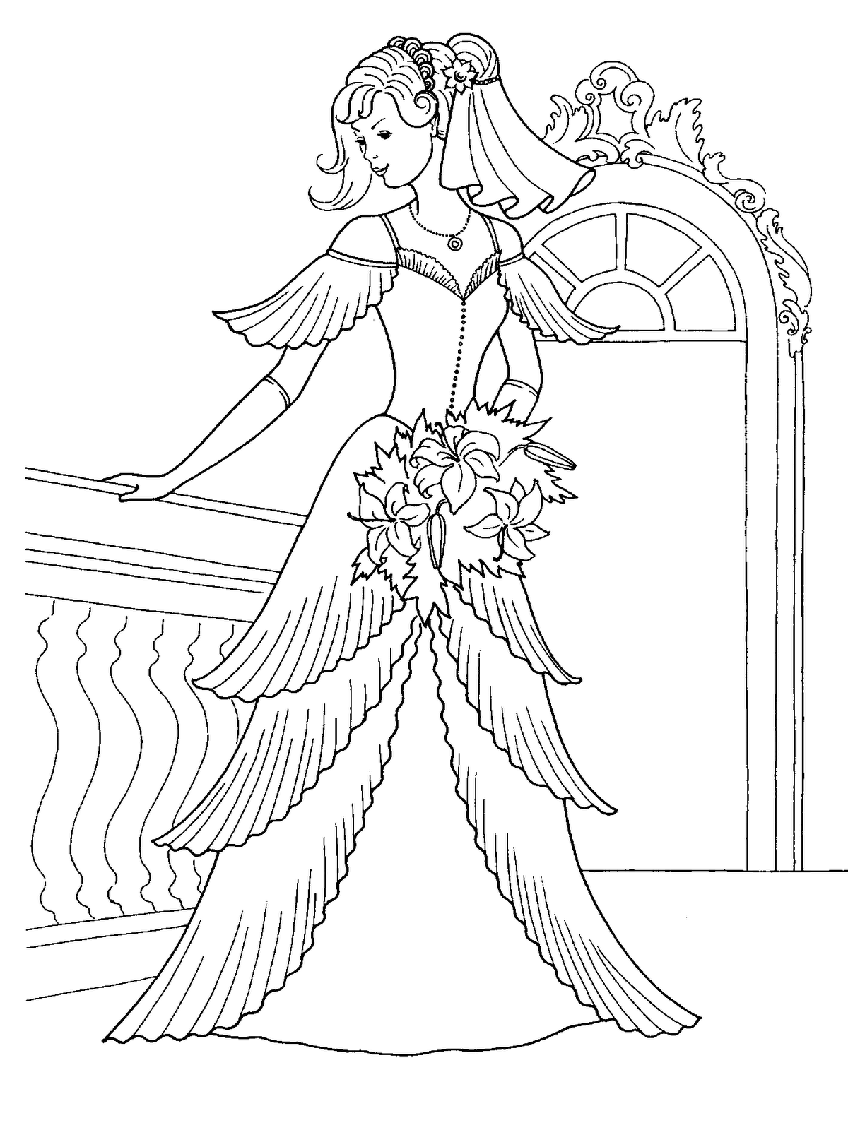 wedding dresses coloring pages wedding dress coloring pages coloring home pages coloring dresses wedding