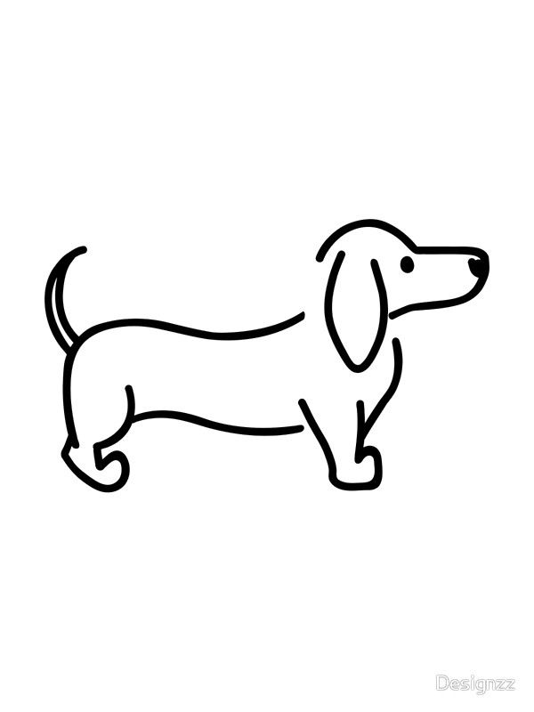 weiner dog drawing image result for dachshund drawing study decoupage weiner drawing dog