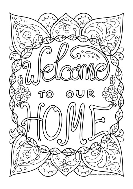 welcome home coloring pages welcome home coloring page at getcoloringscom free coloring home welcome pages