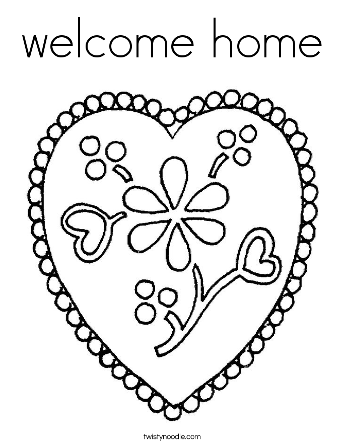 welcome home coloring pages welcome home coloring page at getcoloringscom free welcome home pages coloring
