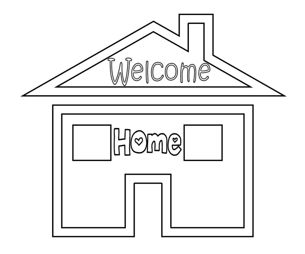 welcome home coloring pages welcome home coloring pages welcome home coloring pages