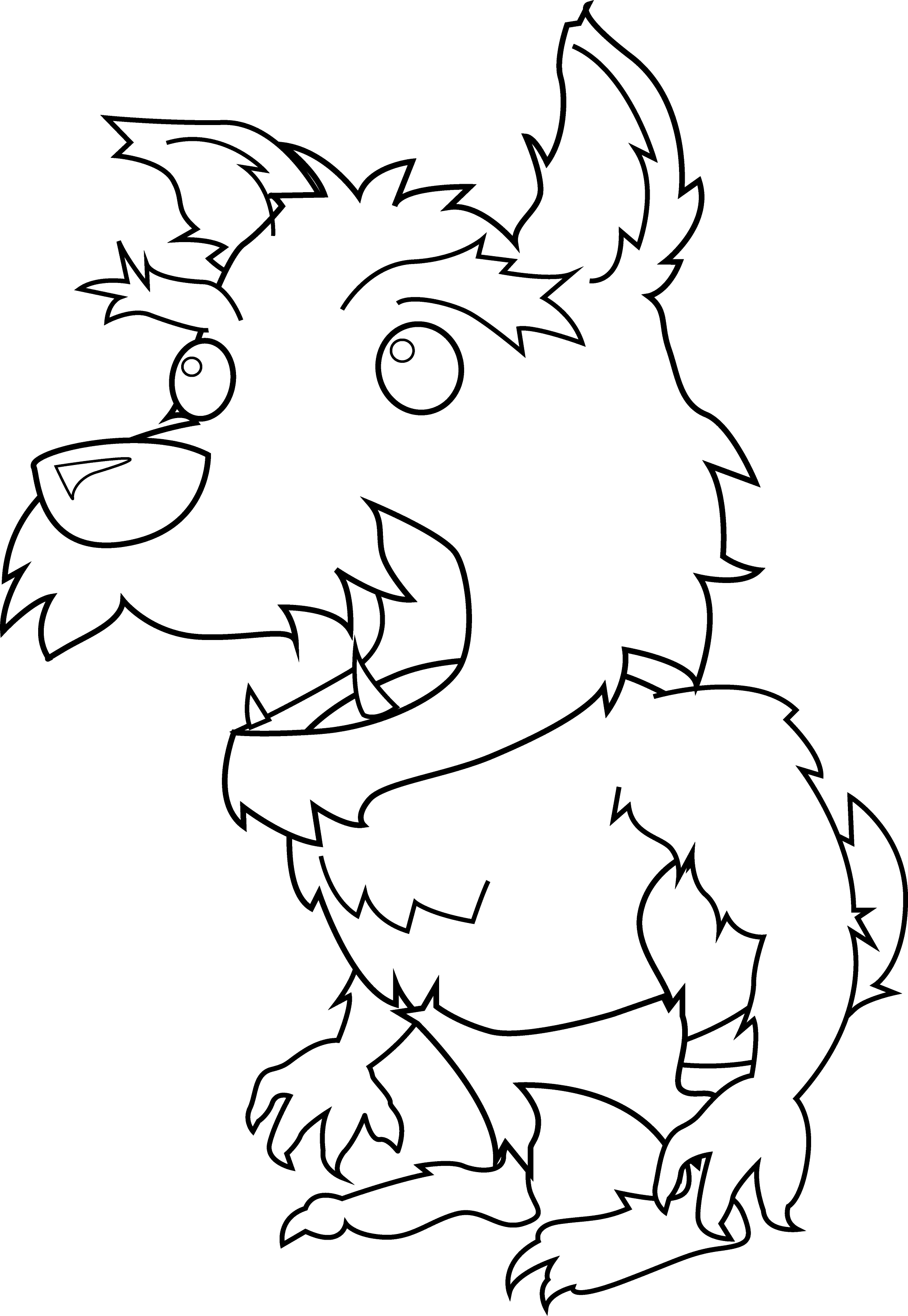 werewolf coloring page scary little werewolf coloring page free clip art coloring page werewolf