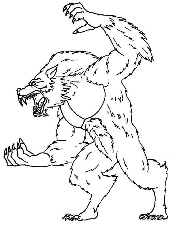 werewolf coloring page werewolf coloring pictures coloring home page werewolf coloring
