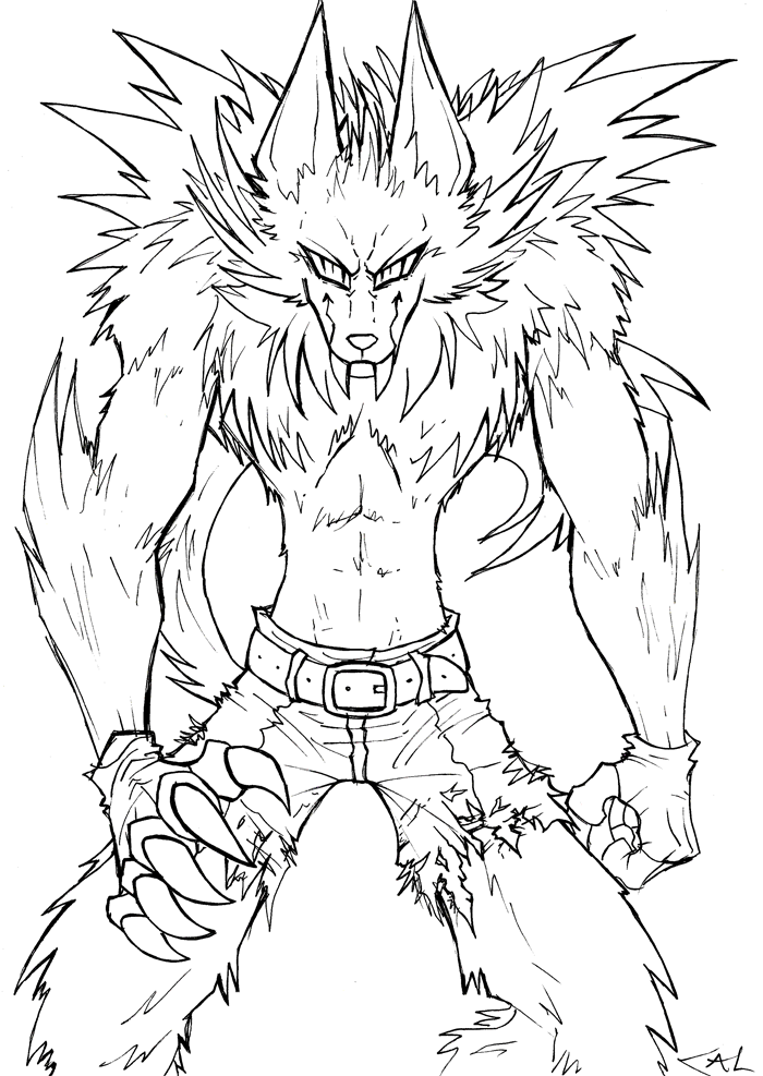 werewolf coloring page werewolf lineart by strixic on deviantart werewolf coloring page