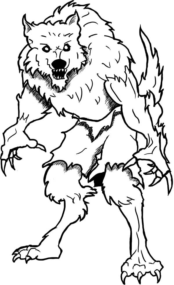 werewolf coloring pages printable monster werewolf coloring page monster werewolf coloring pages werewolf printable coloring