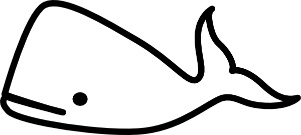 whale outline whale template  clipart best whale outline