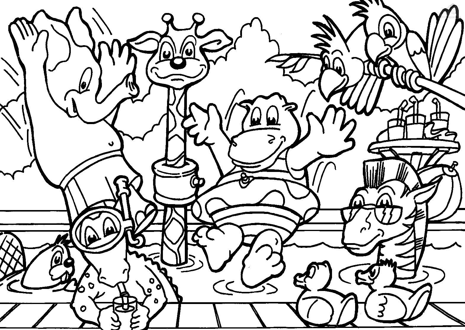 wild animals coloring pages introduce kids wild animals using animals coloring coloring pages animals wild