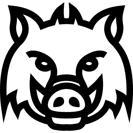 wild boar outline boar icon in outline style isolated on white background boar outline wild