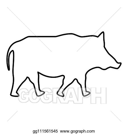 wild boar outline royalty free rf clipart of wild boars illustrations outline wild boar