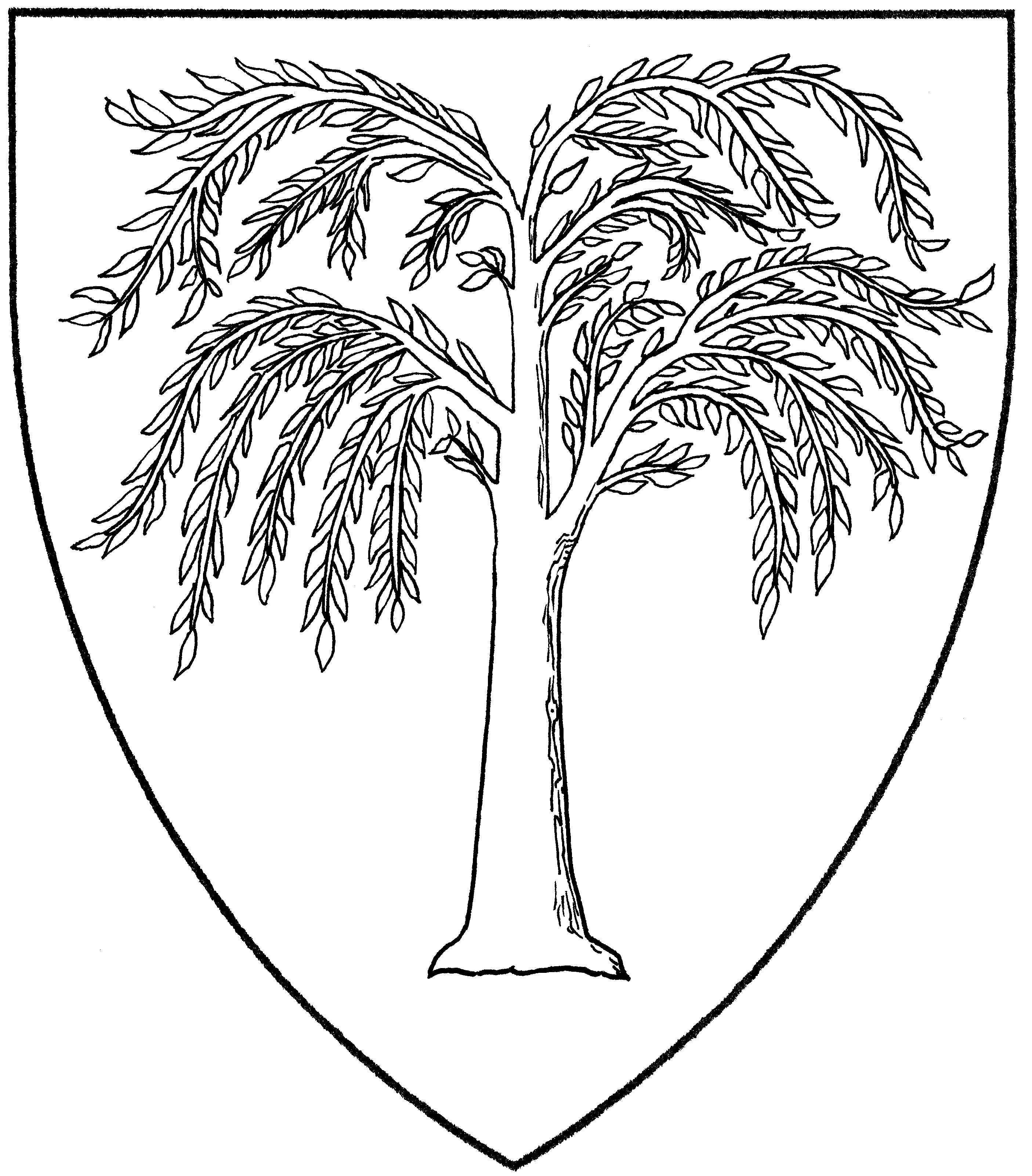 willow tree coloring page willow tree easy coloring pages page coloring willow tree