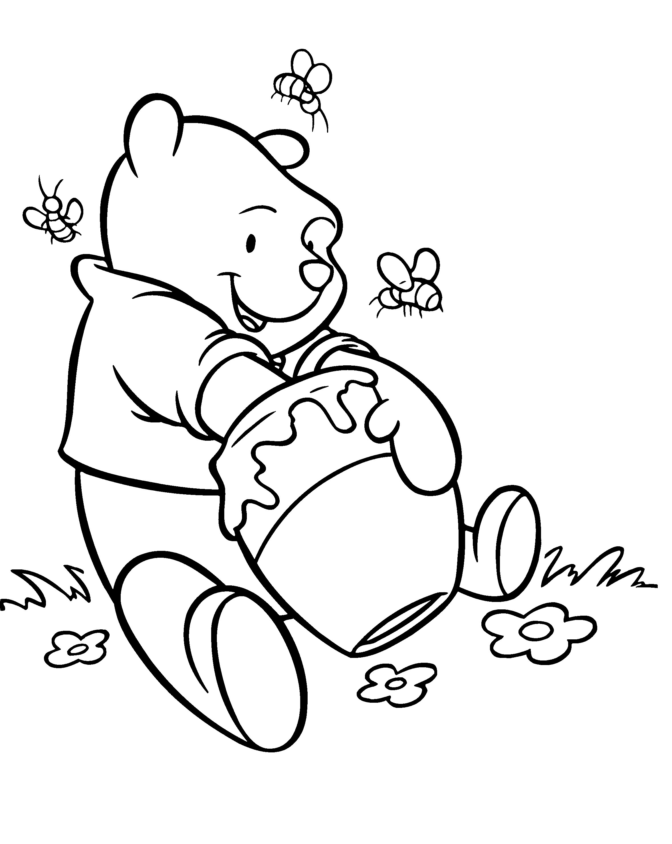 winnie the pooh drawing winnie the pooh line drawing free download on clipartmag pooh winnie the drawing