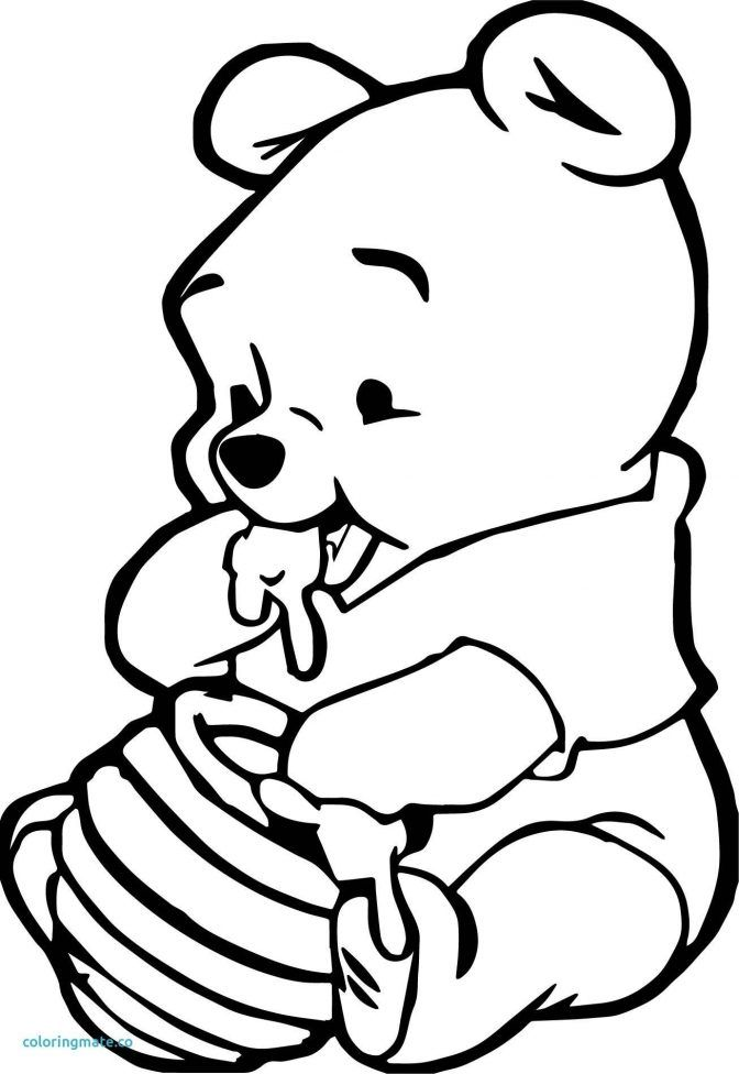 winnie the pooh outline winnie the pooh honey coloring pages disneyclipscom the outline pooh winnie