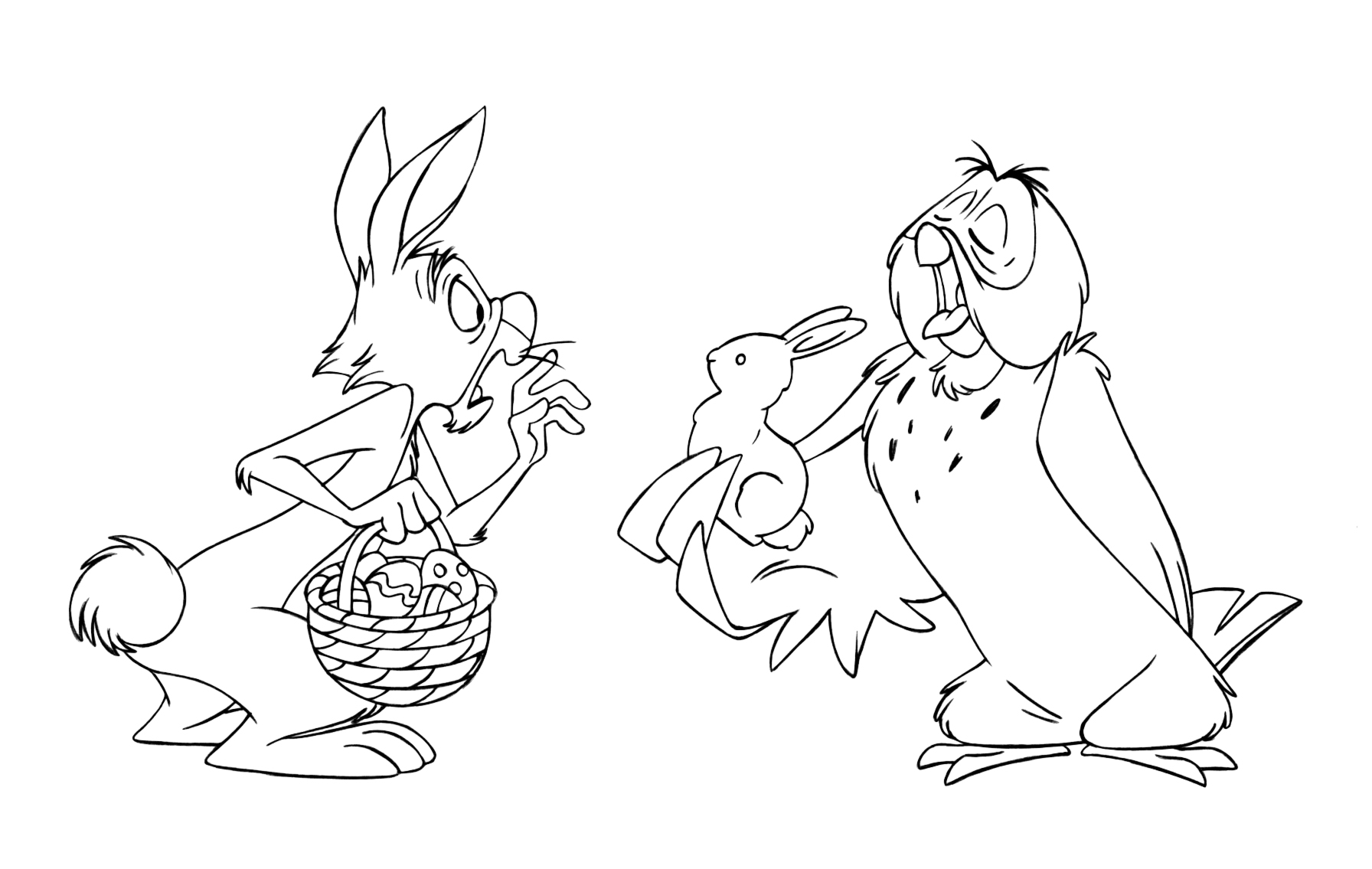 winnie the pooh rabbit coloring pages rabbit in the garden free coloring page rabbit pooh pages coloring the winnie