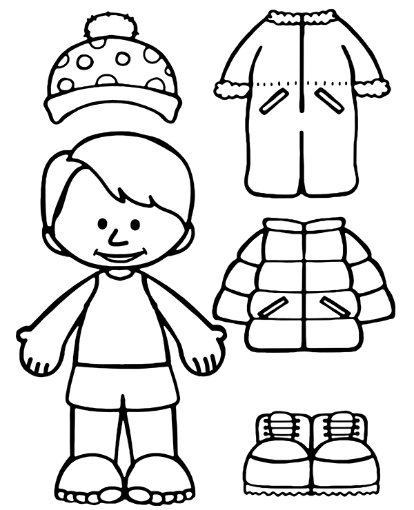 winter clothes colouring pages winter clothes coloring pages get coloring pages pages clothes winter colouring