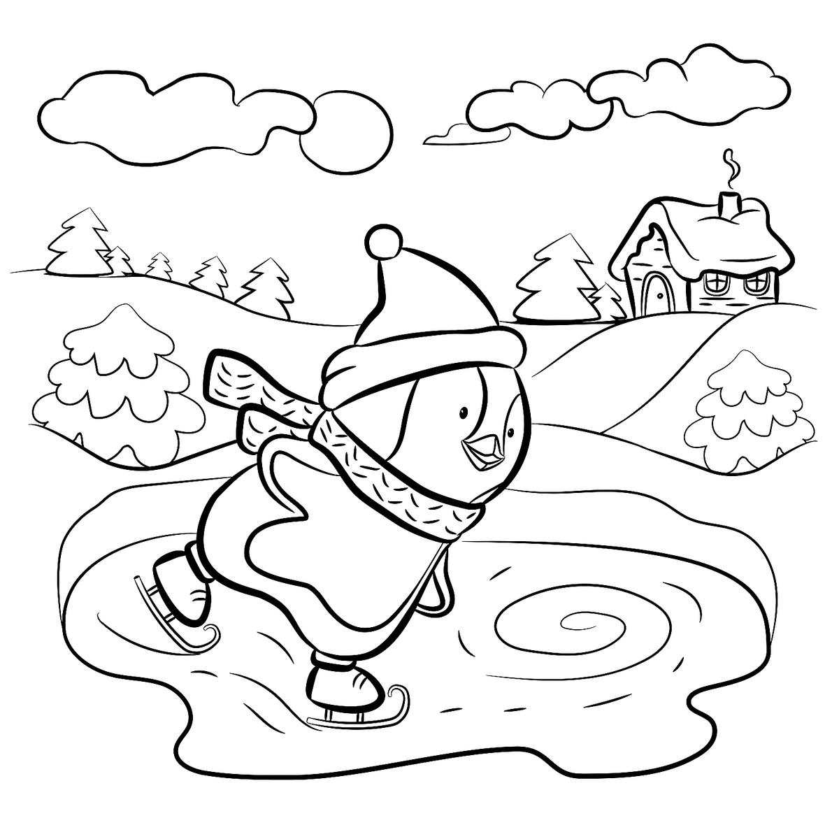 winter coloring free printable winter coloring pages coloring winter