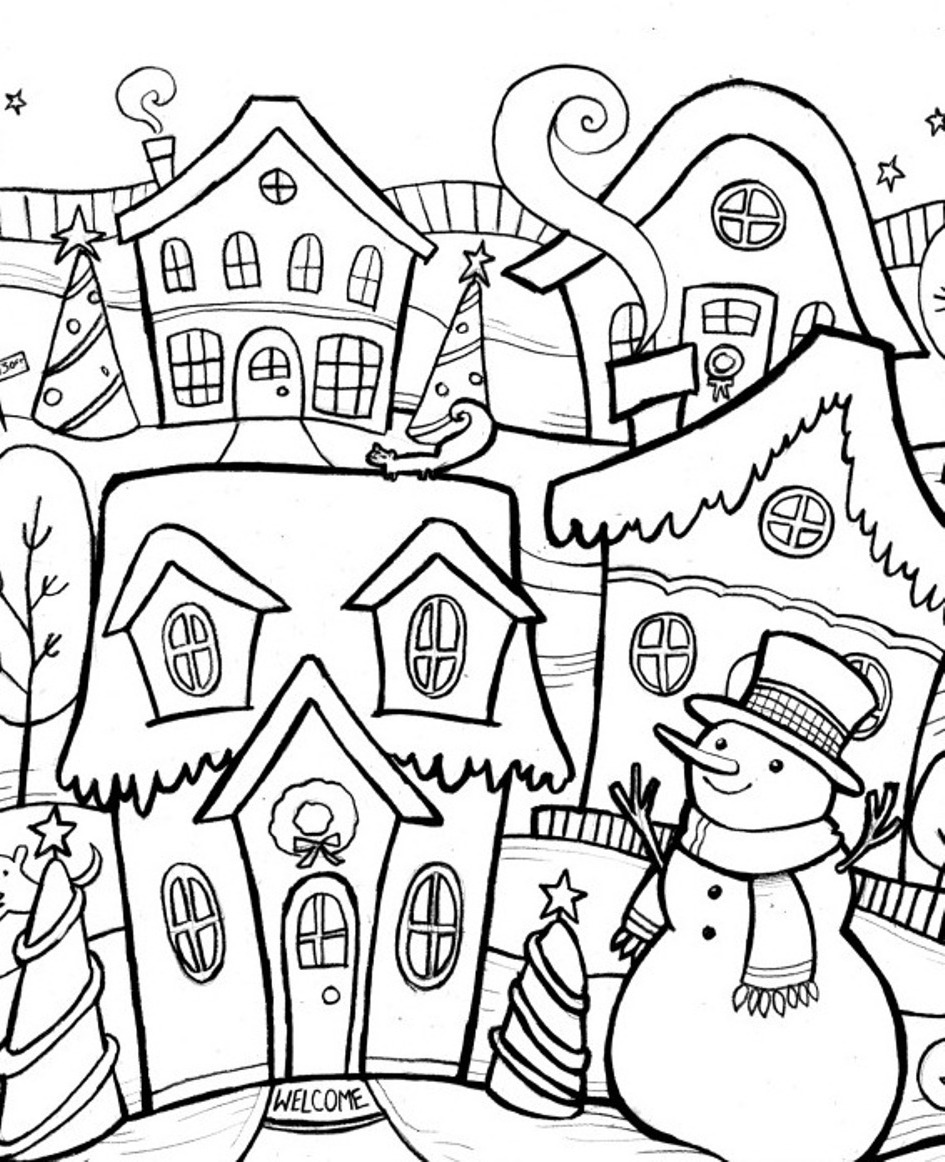 winter coloring free printable winter coloring pages winter coloring 1 1