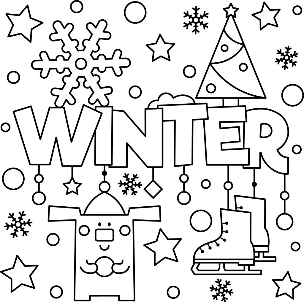 winter coloring winter coloring pages for kids and adults stock winter coloring 1 1