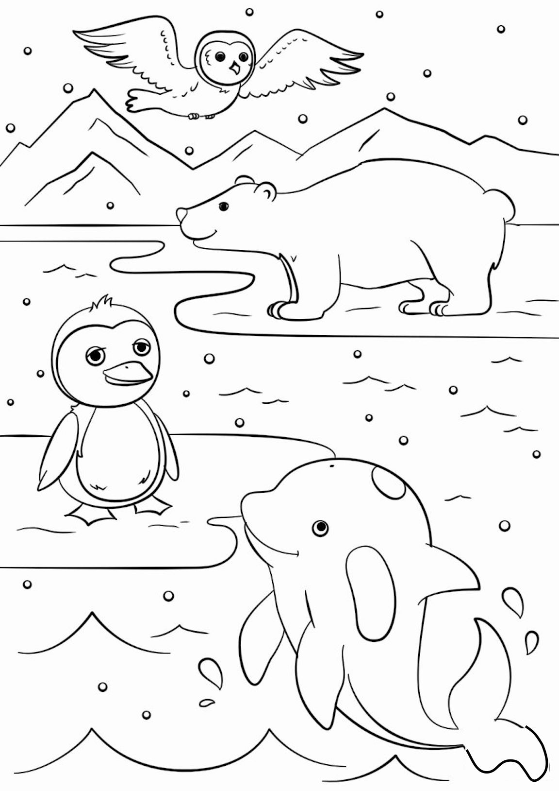 winter coloring winter season coloring pages crafts and worksheets for winter coloring