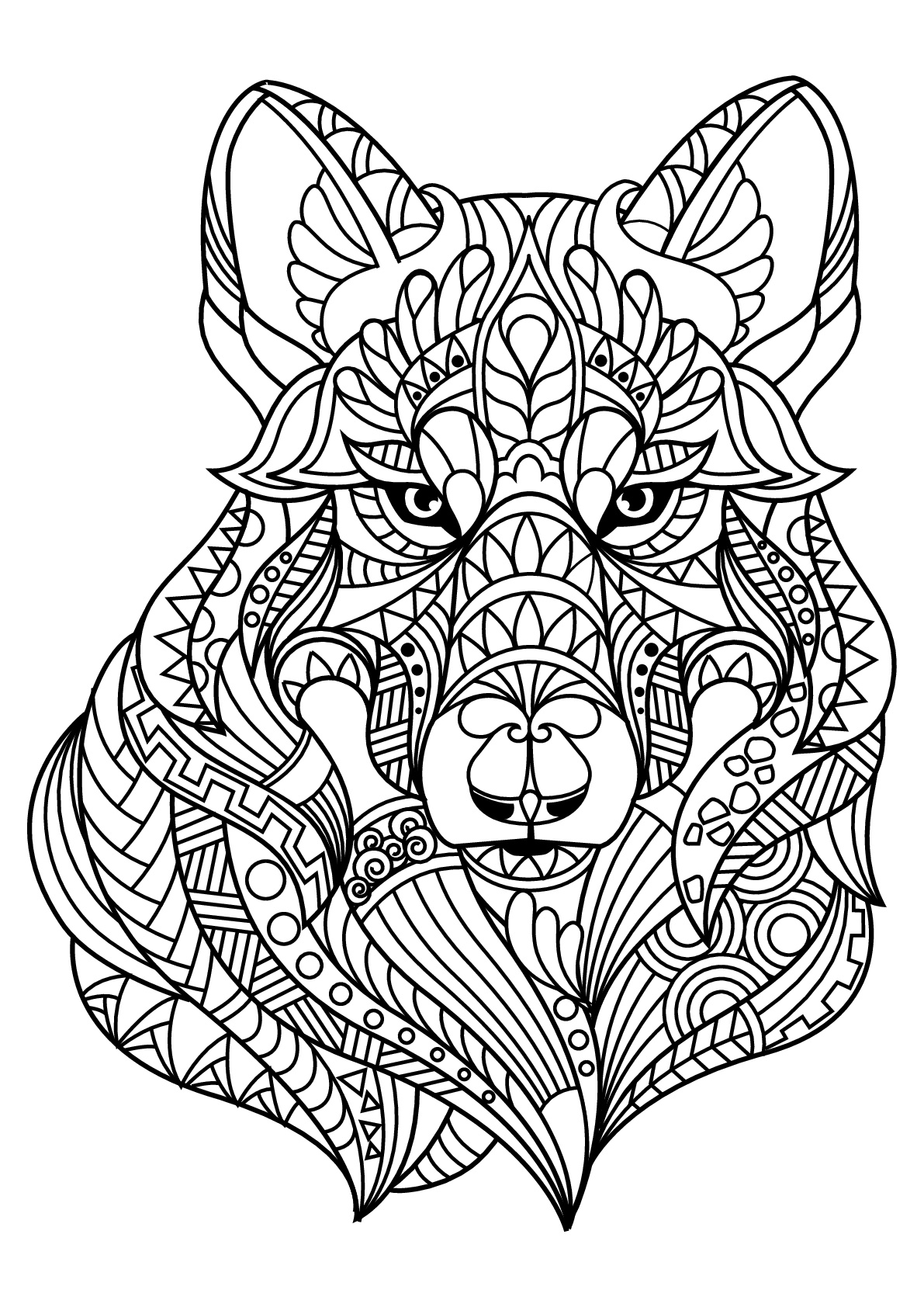 wolf coloring book free wolf coloring pages for adults printable to download wolf coloring book