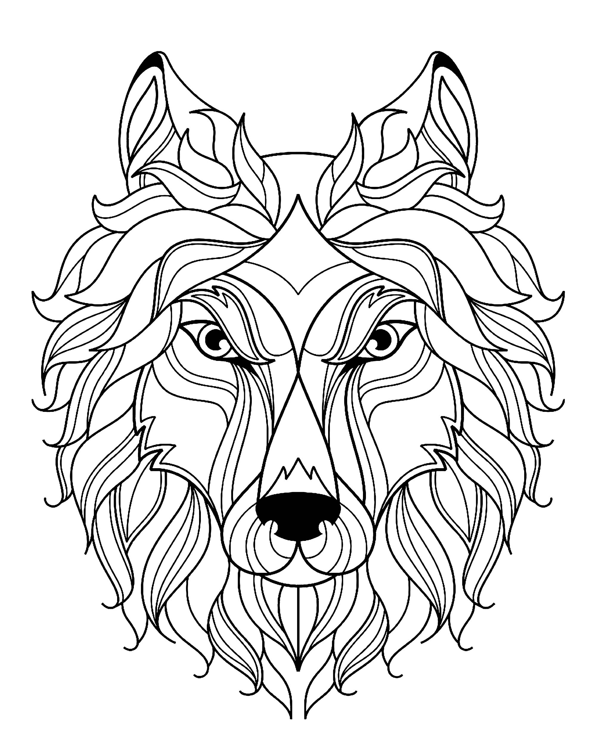 wolf coloring book wolf head complex patterns wolves adult coloring pages wolf book coloring