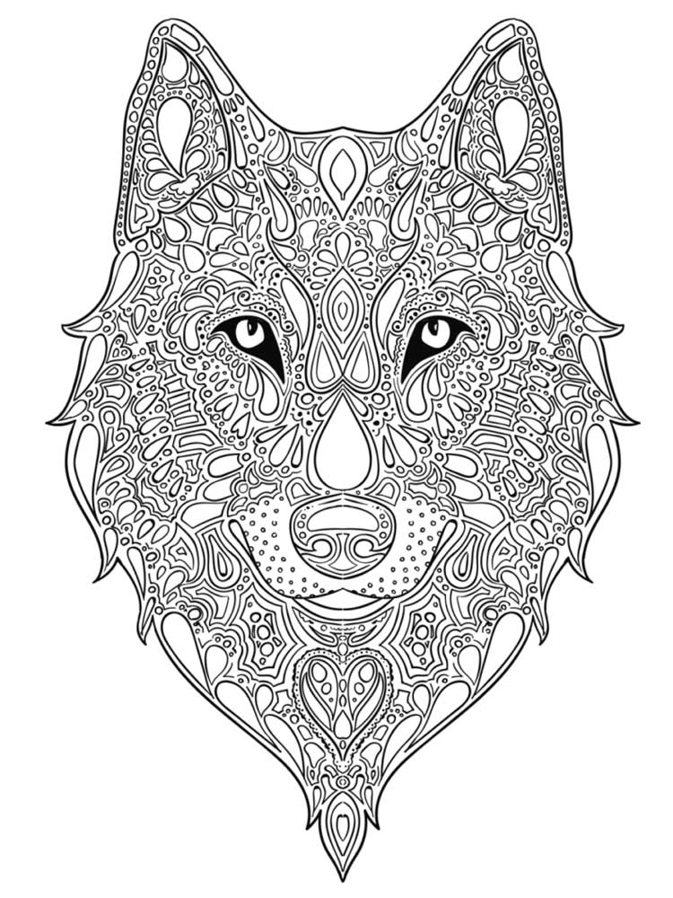 wolf coloring pages for adults get this wolf coloring pages for adults 75619 coloring pages for adults wolf