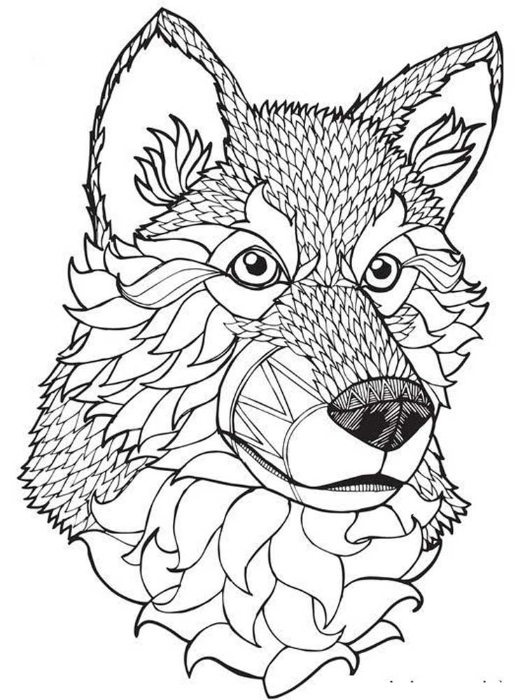 wolf coloring pages for adults pin on daycare coloring adults for pages wolf