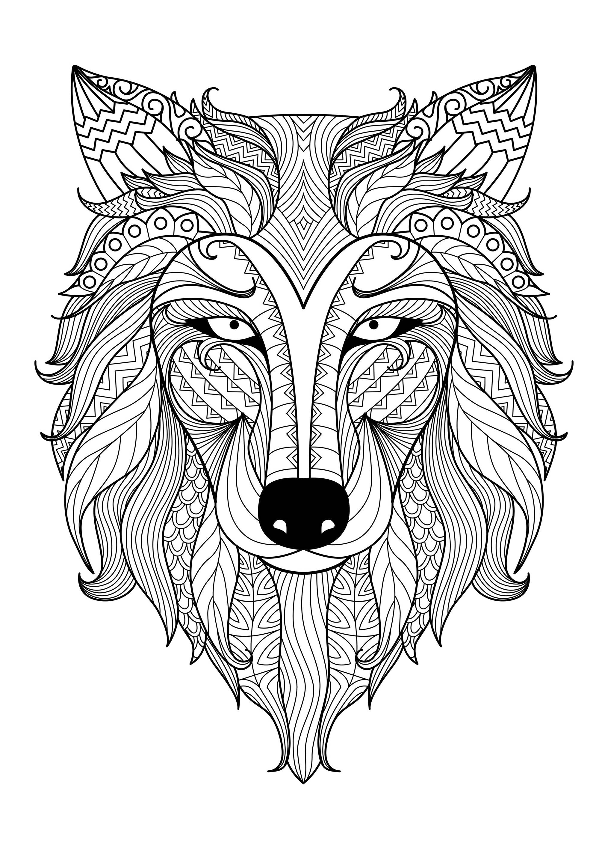 wolf coloring pages for adults wolf 3 wolves adult coloring pages coloring wolf pages adults for