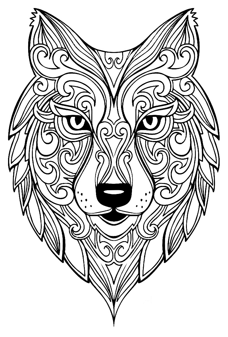 wolf coloring pages for adults wolf for adult coloring pages printable pages for coloring wolf adults