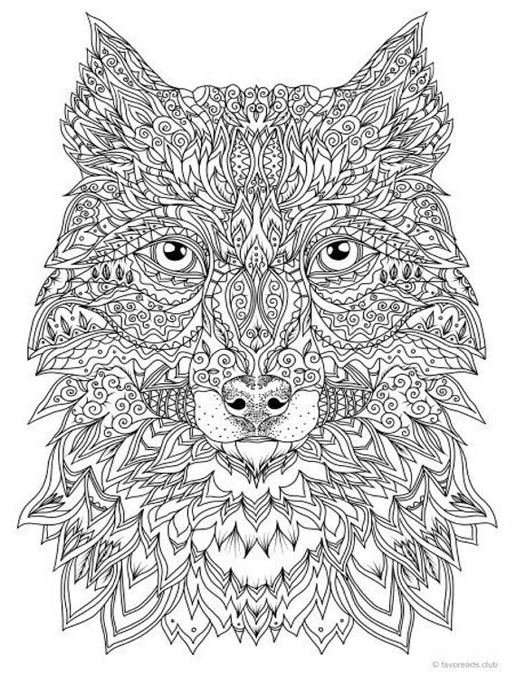 wolf coloring pages for adults wolf head complex patterns wolves adult coloring pages pages for wolf coloring adults