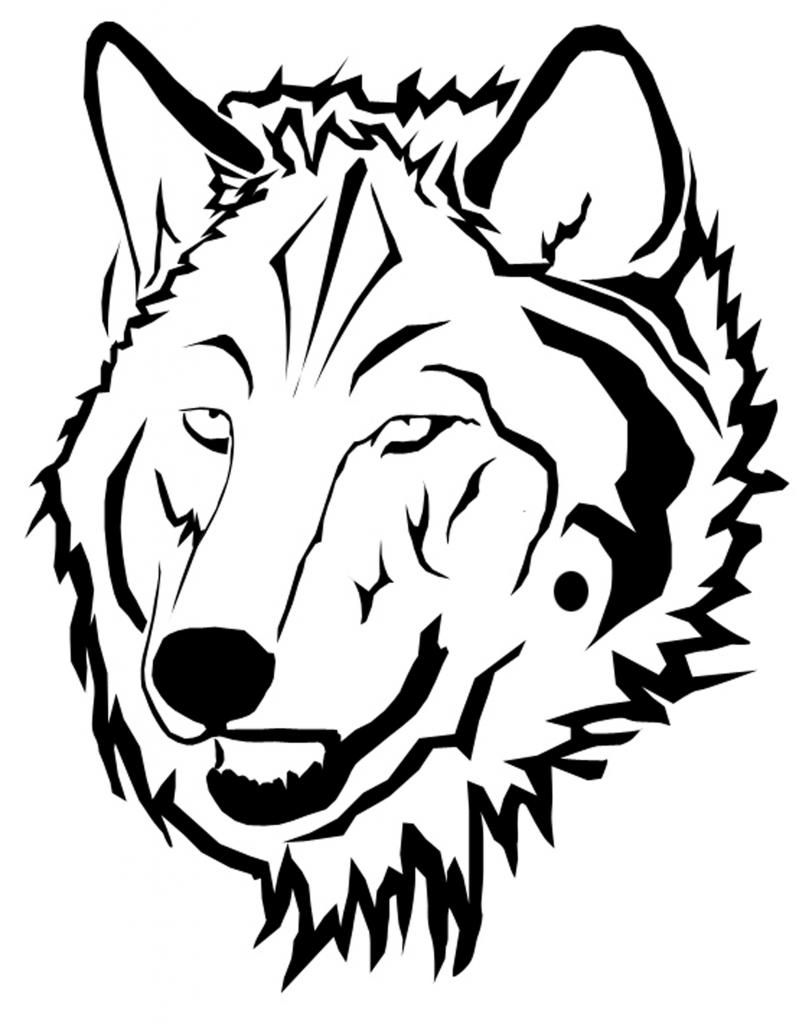 wolf face coloring pages 為孩子們的著色頁 angry wolf coloring pages wolf face coloring pages