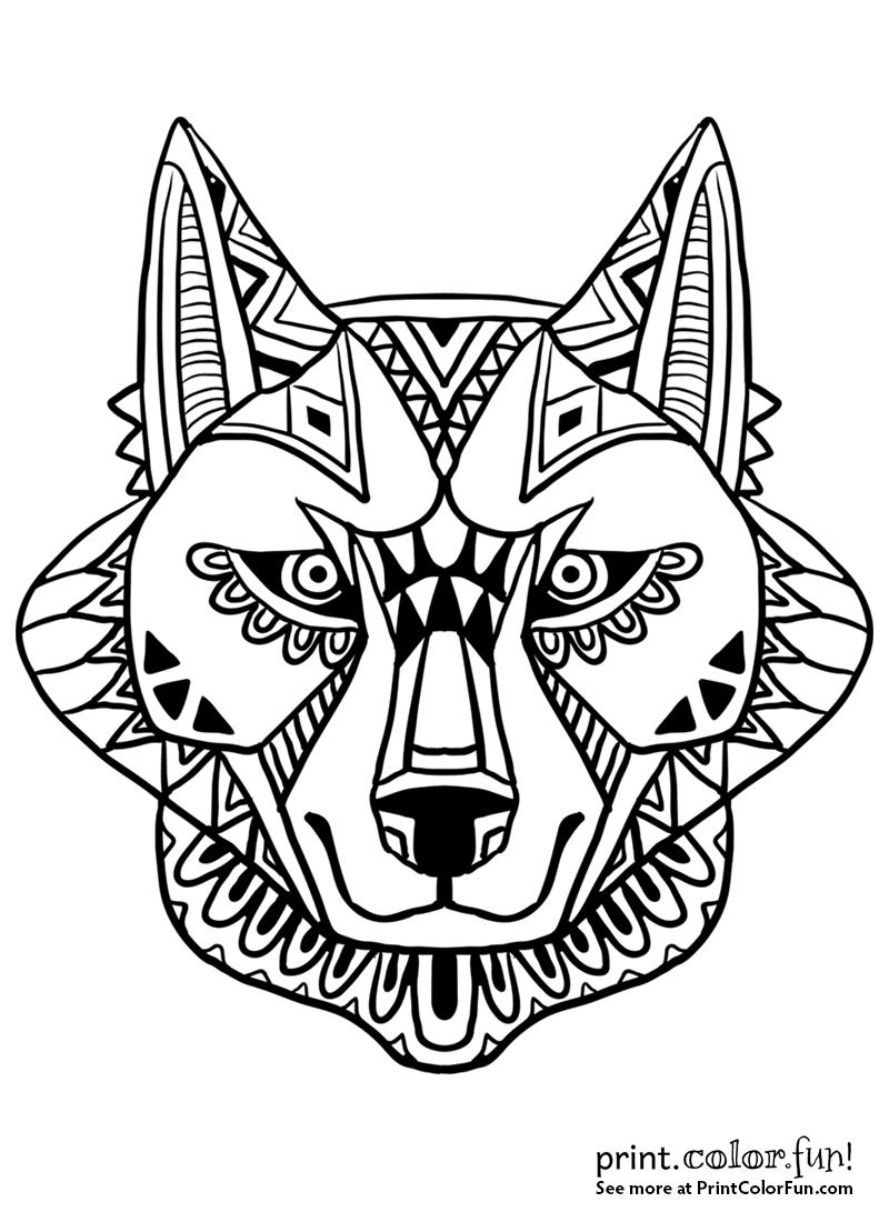 wolf face coloring pages wolf coloring pages kids face wolf coloring pages