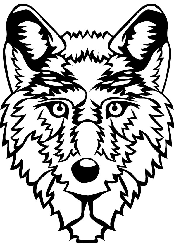 wolf face coloring pages wolf face coloring page coloring home wolf coloring pages face