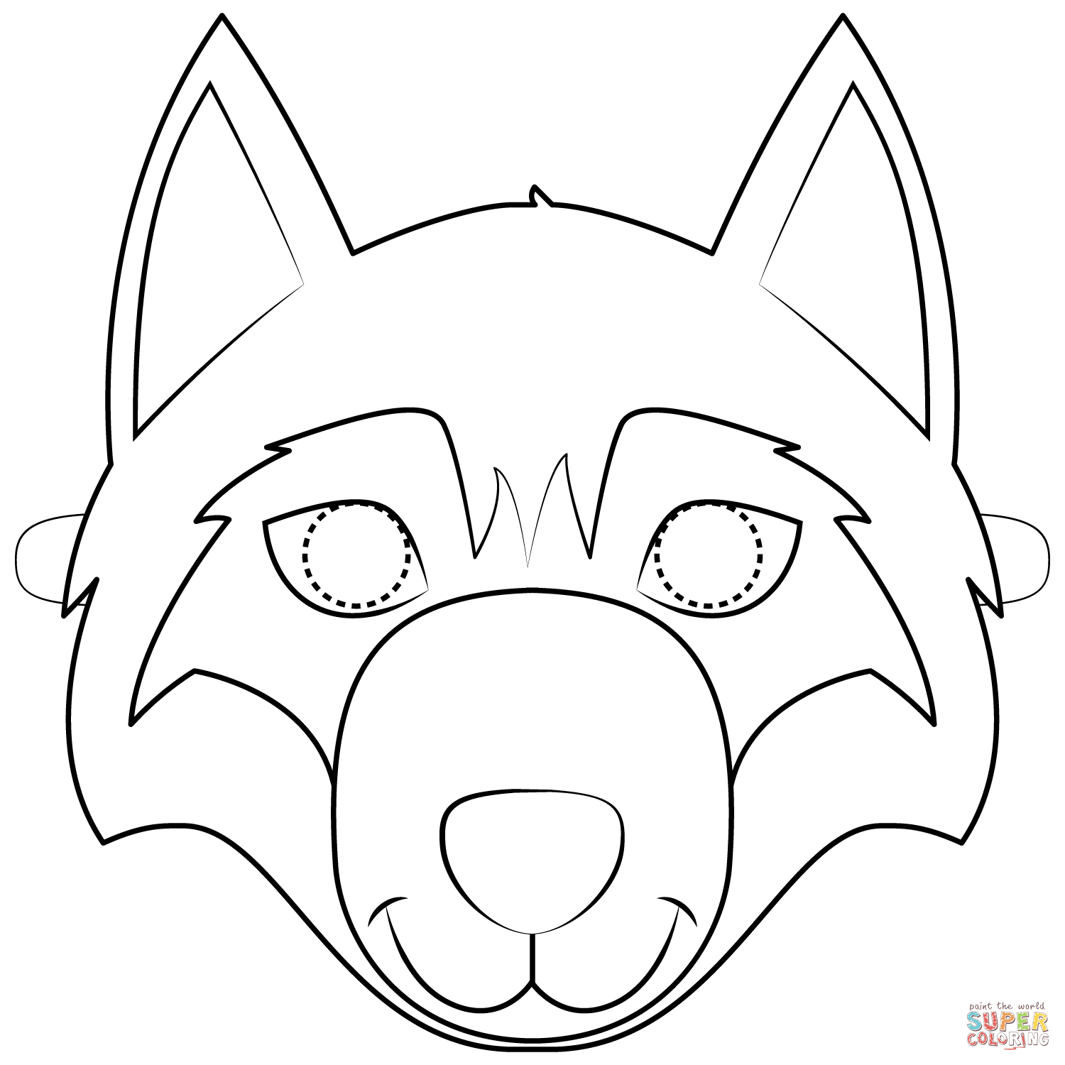 wolf face coloring pages wolf face coloring page for adults coloring home pages coloring wolf face