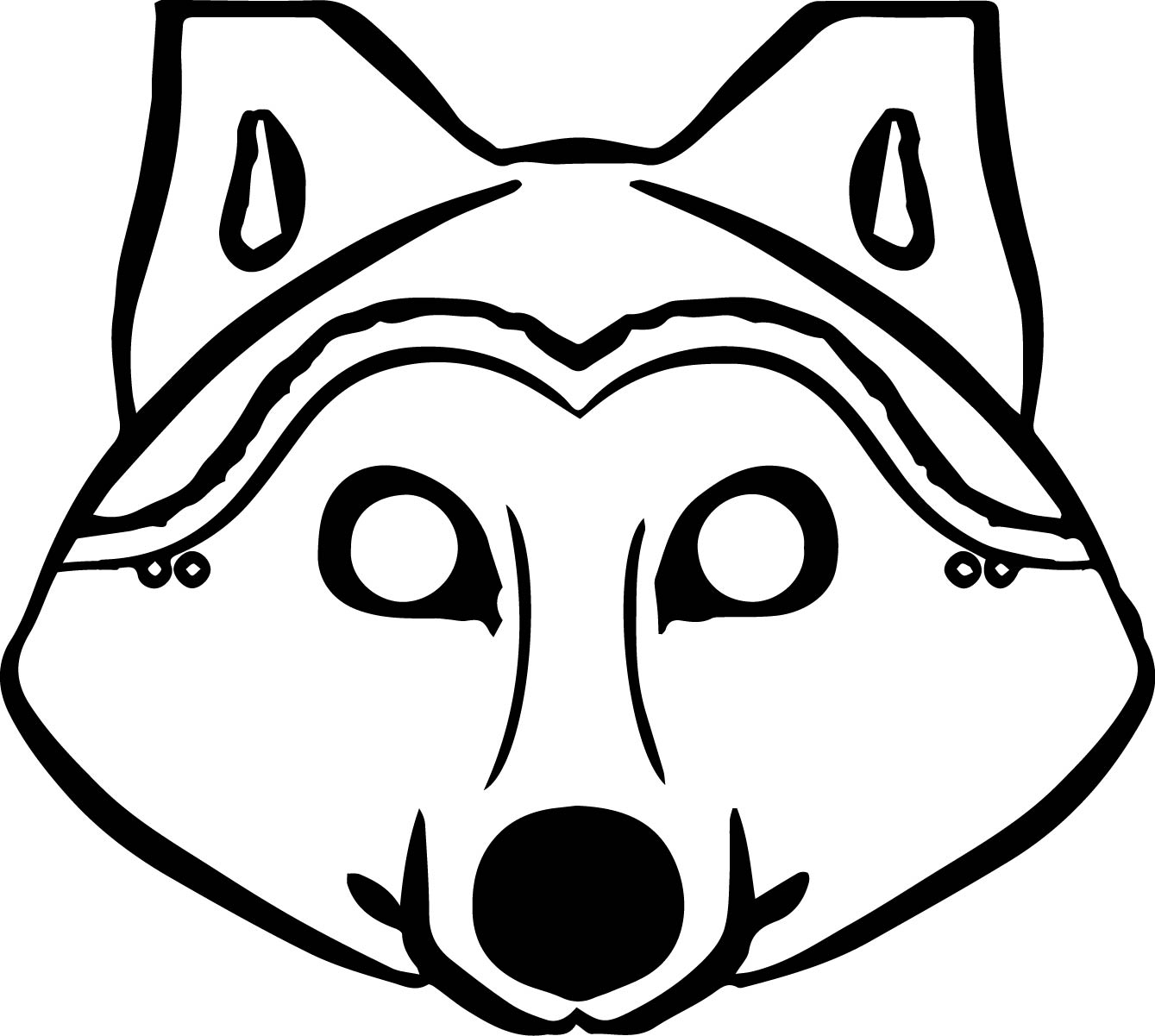wolf face coloring pages wolf face coloring pages at getdrawings free download coloring wolf face pages