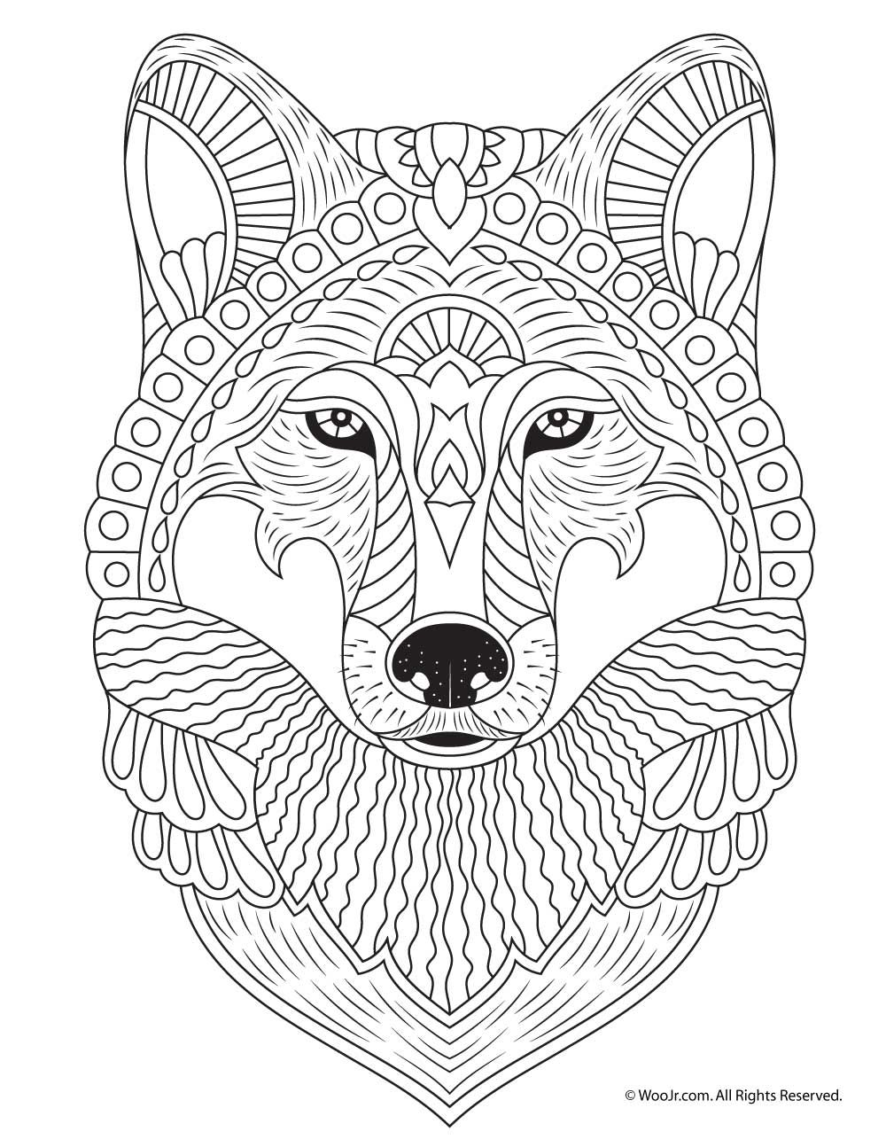 wolf face coloring pages wolf face coloring pages coloring face wolf pages